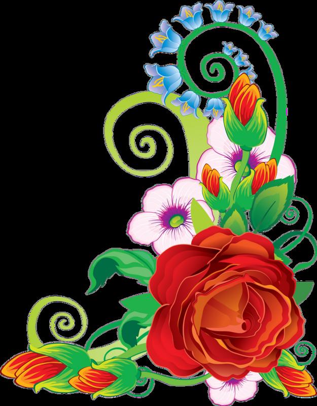 Днем, рисованные картинки с цветами и надписями