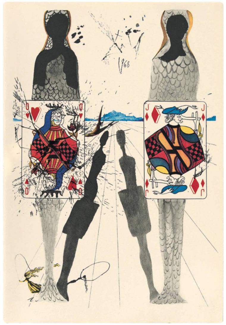 Des ?uvres rares de Salvador Dali illustrant Alice au pays des merveilles