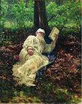 Лев Николаевич Толстой на отдыхе в лесу. 1891. Русский художник Илья Ефимович Репин.jpg