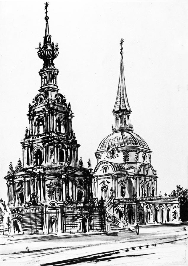 Церковь Петра и Павла на Новой Басманной улице XVIII в..jpg
