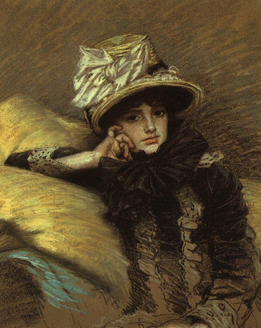 Частная коллекция Джеймс Тиссо (1836–1902). Берта. 1883 гг. Пастель, бумага.jpg