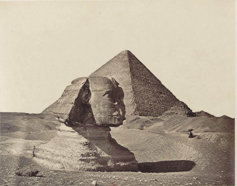 Гиза. Сфинкс и пирамиды. 1862