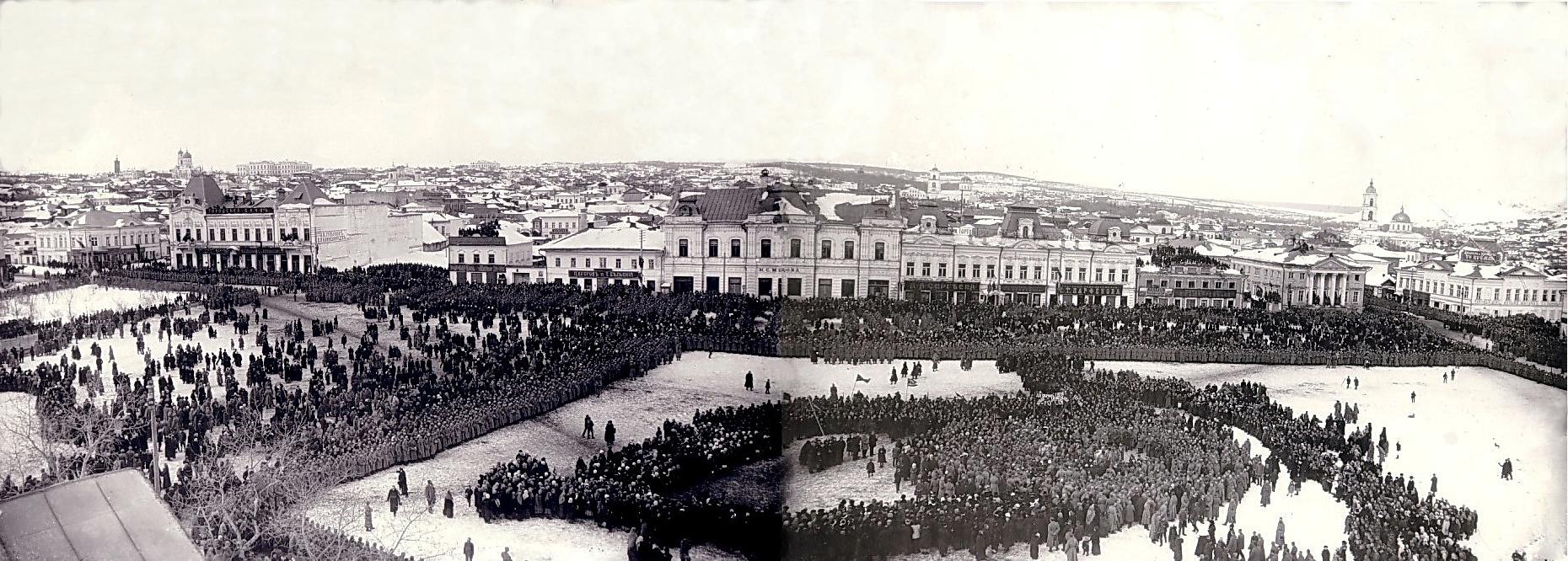 Митинг на Соборной площади 16 марта 1917