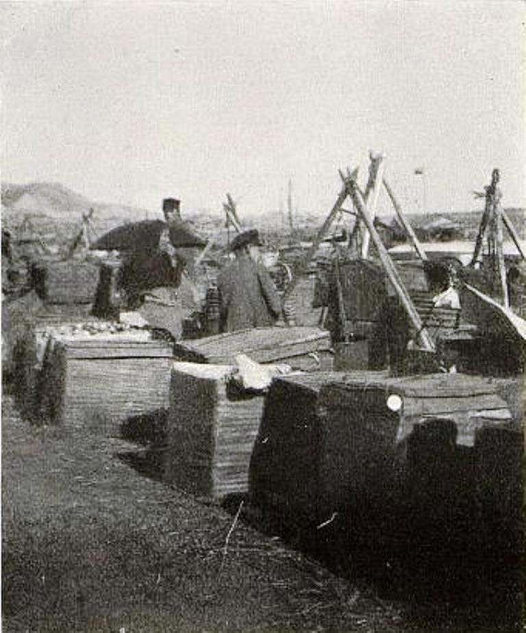 Фруктовый базар на пристани