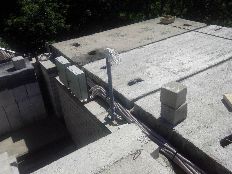 Монтаж электрики дома.
