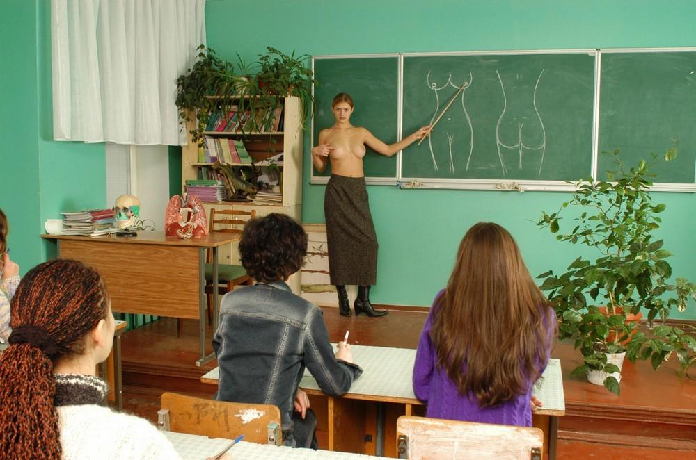 Вика провела наглядный урок анатомии