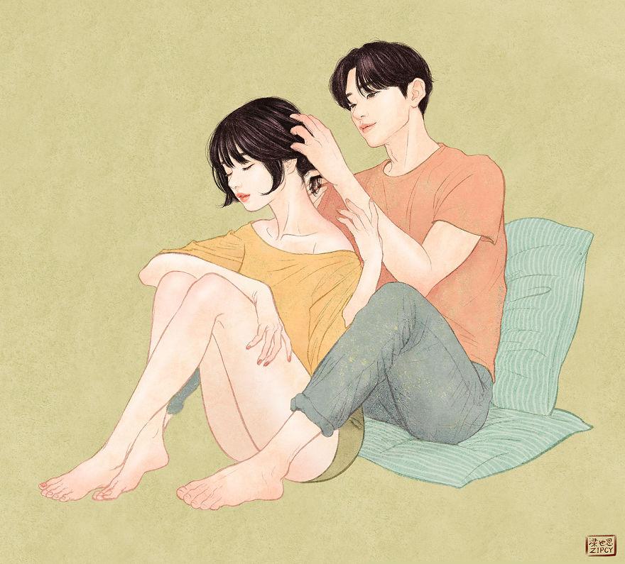 Интимные иллюстрации художника из Южной Кореи