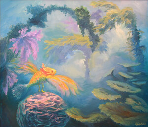 «Иллюзия рыбы». Холст, масло 70х60.jpg