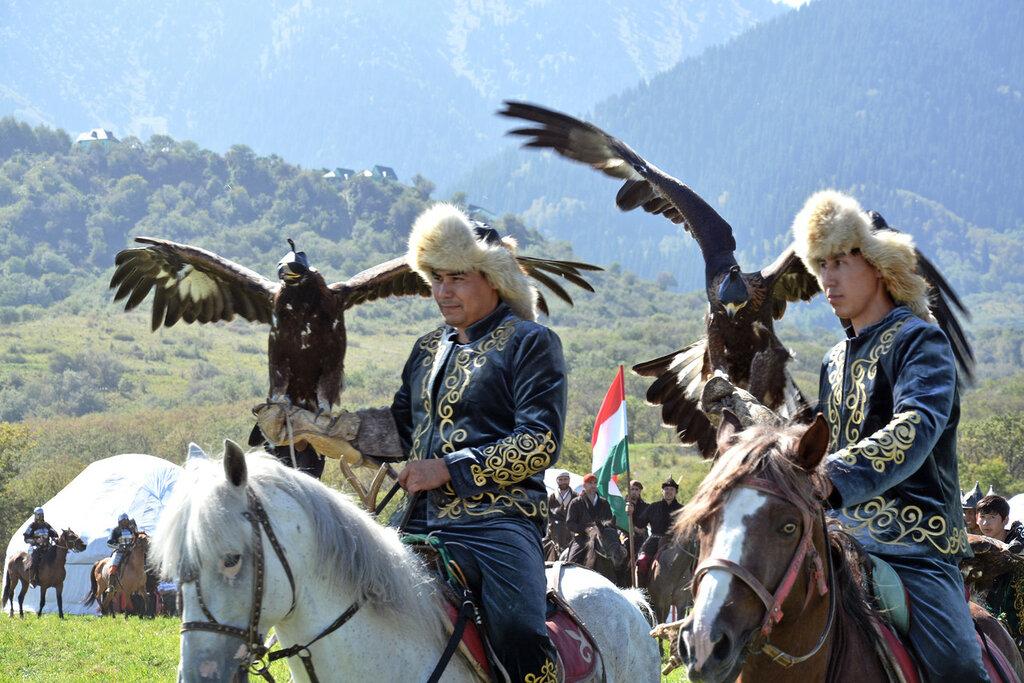 Казахские беркутчи