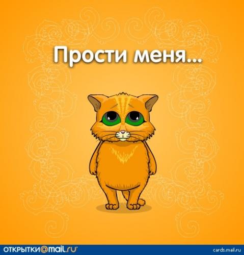 Прости меня! Кот стоит по стойке -смирно!
