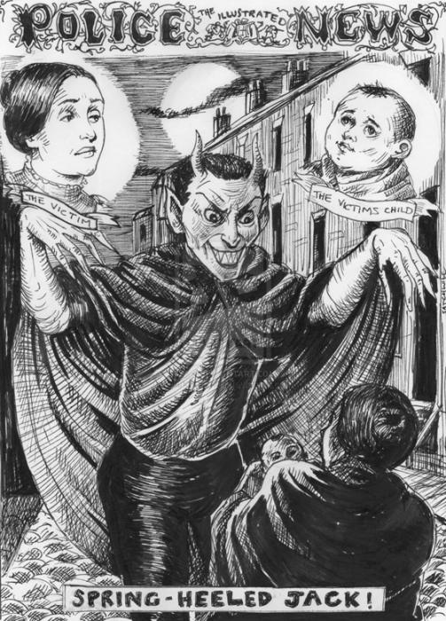 Джек-прыгун стучался в двери лондонцев и ждал, пока ему откроют. Если жертва начинала кричать, о