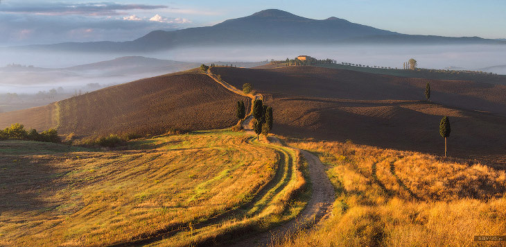 Теплая осень в Тоскане (38 фото)