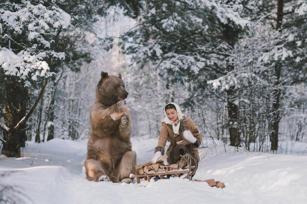 Кадры, будто из сказки: тематические фотосессии с животными Ольги Баранцевой