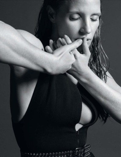 Джессика Честейн в испанском Vogue (7 фото)