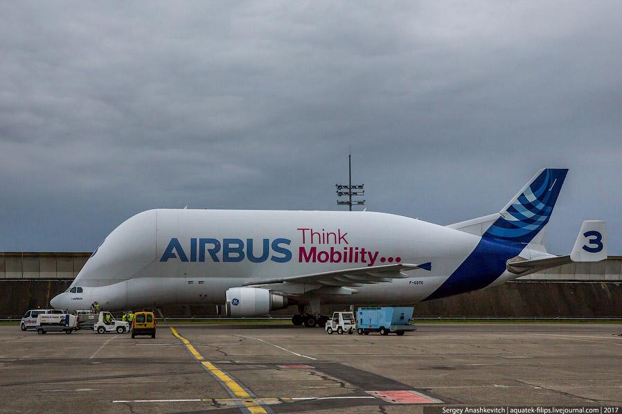 5. Вот так выглядит задняя часть фюзеляжа A320, только выгруженная из огромной Белуги около лин