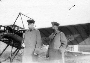 Группа военных летчиков (слева - генерал А.В.Каульбарс).