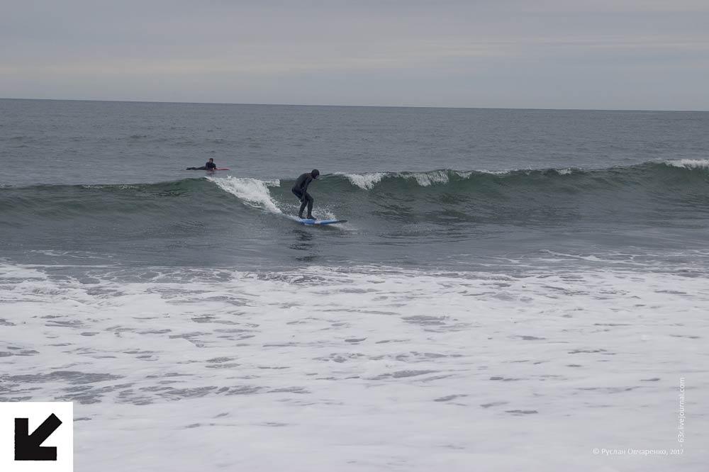 пляж, черный песок, серфинг, тихий океан, океан, камчатка, серфшкола