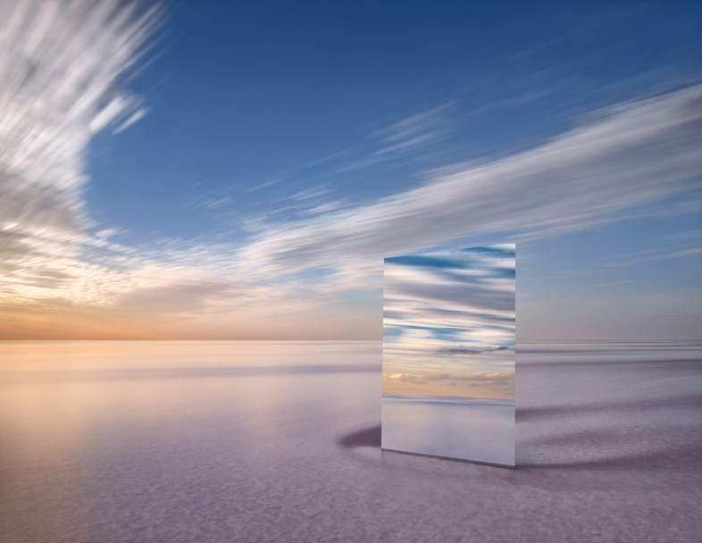 Poetic Pictures of Mirror Reflecting Horizon by Murray Frederick