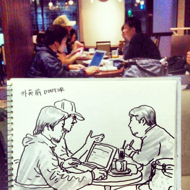 Quand un illustrateur japonais dessine le quotidien dans de magnifiques croquis rapides…
