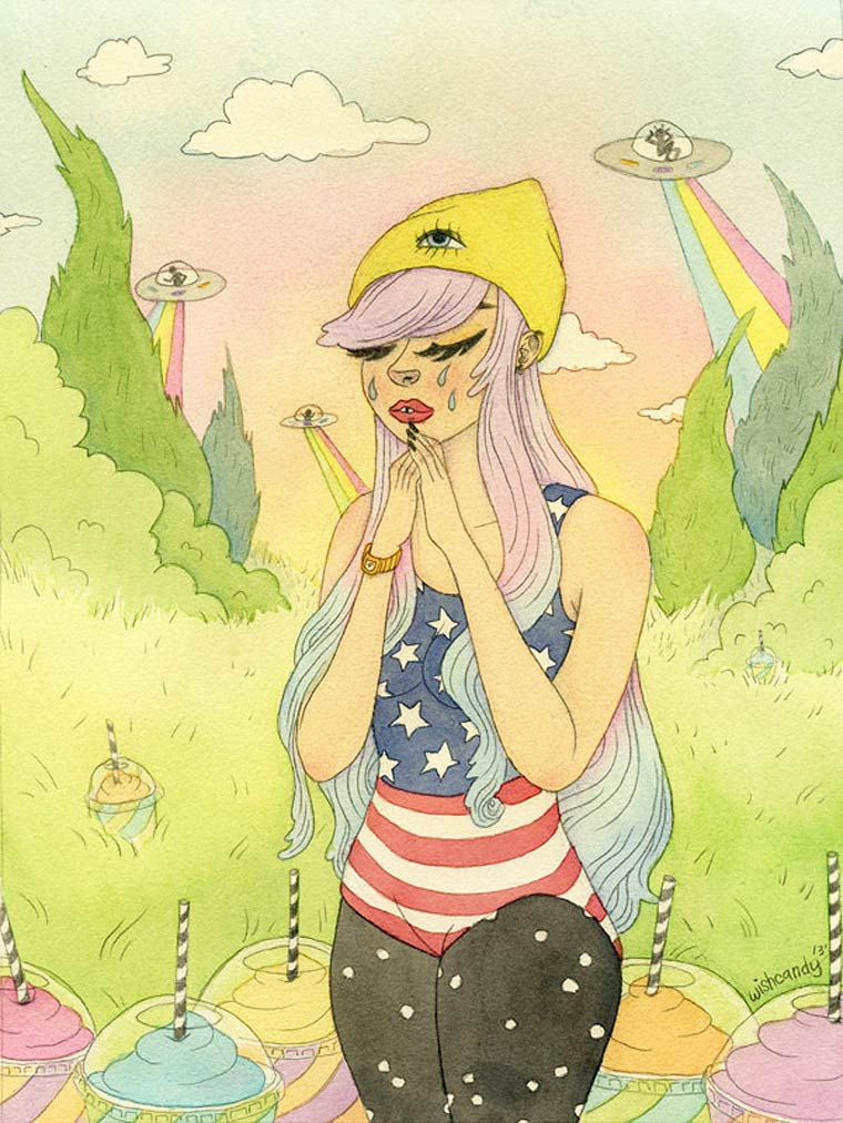 Wishcandy - Les emotions feminines illustrees par Sashiko Yuen