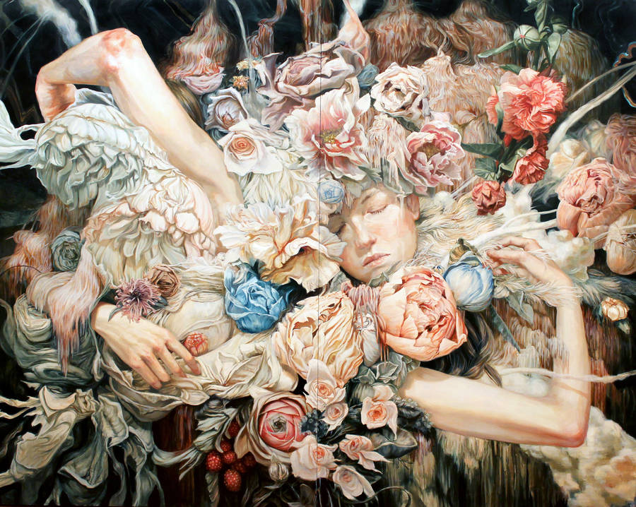 Enigmatic Portraits of Bodies Wrapped in Flowers (8 pics)