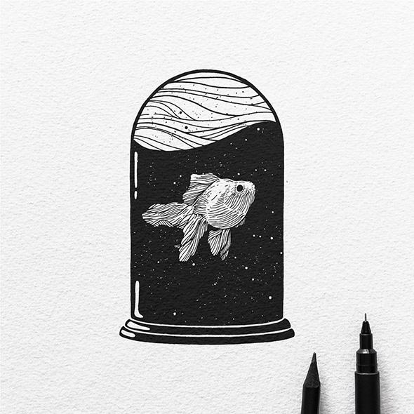 As ilustracoes de bolso de Dario Anza (14 pics)