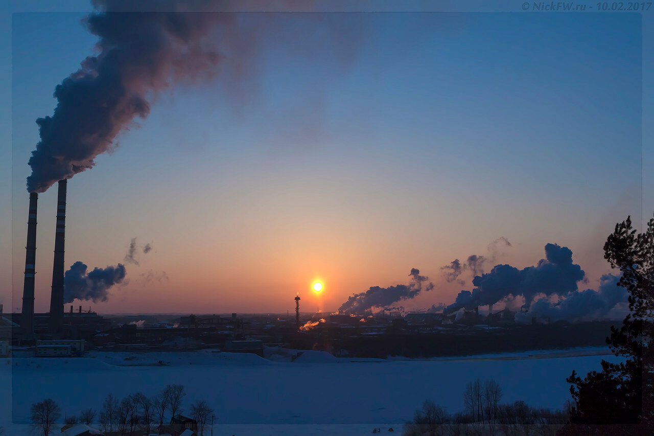 Закат над промзоной (© NickFW - 10.02.2017)