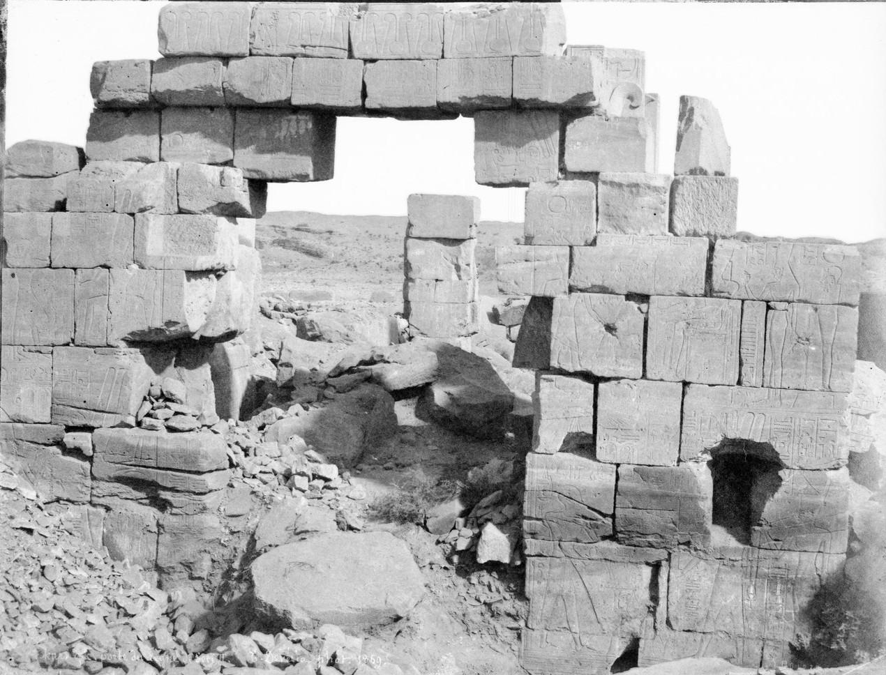 Карнак. Вход в храм эпохи царствования Сети II