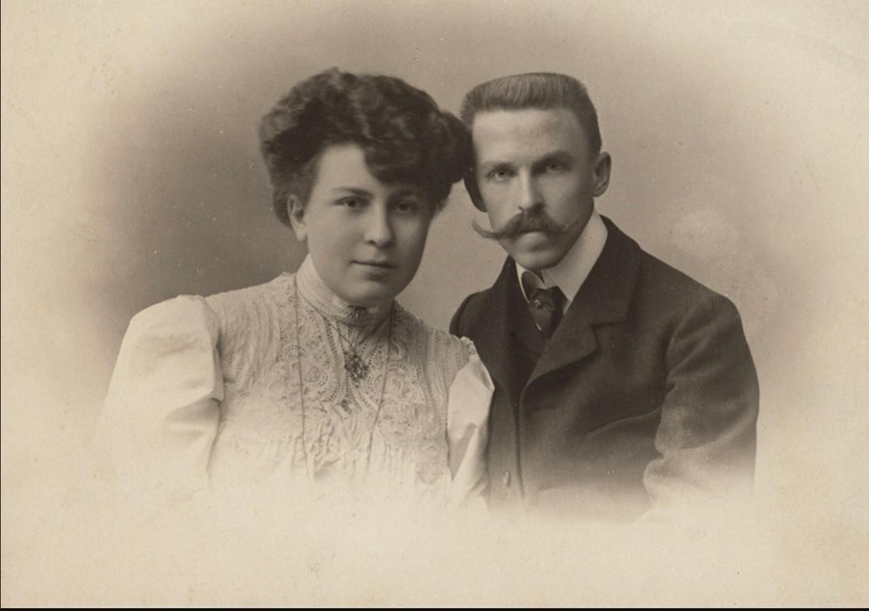 К. Головкин с женой Екатериной, октябрь 1907