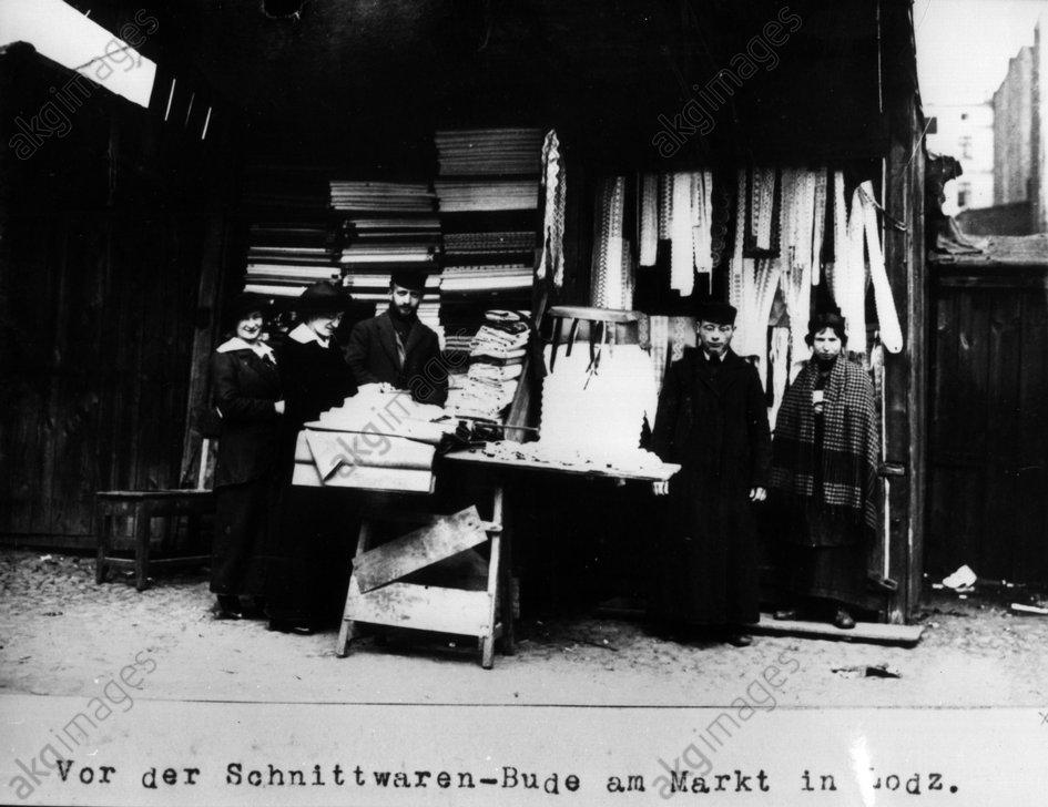Jьdischer Stoffhдndler Lodz / 1915 - Jewish mercer Lodz / 1915 -