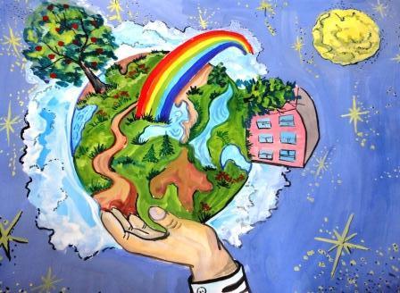 5 июня отмечается праздник — Всемирный день охраны окружающей среды! Детский рисунок