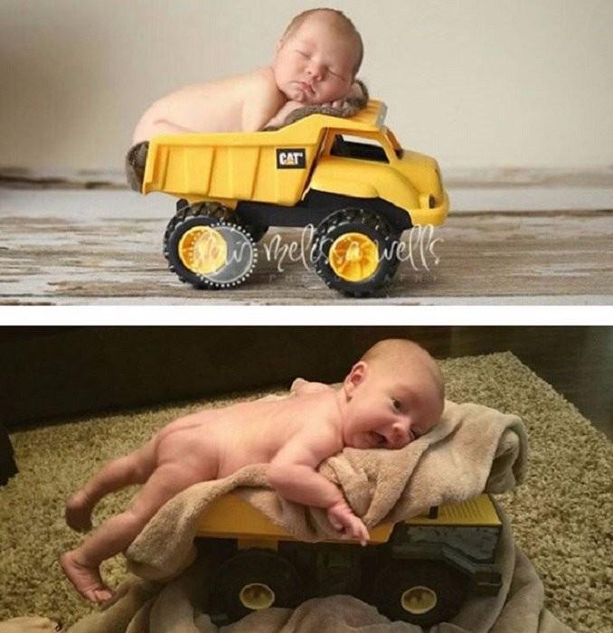 10 забавных фотоснимков малышей, которые должны были выглядеть, как в глянцевых журналах (10 фото)