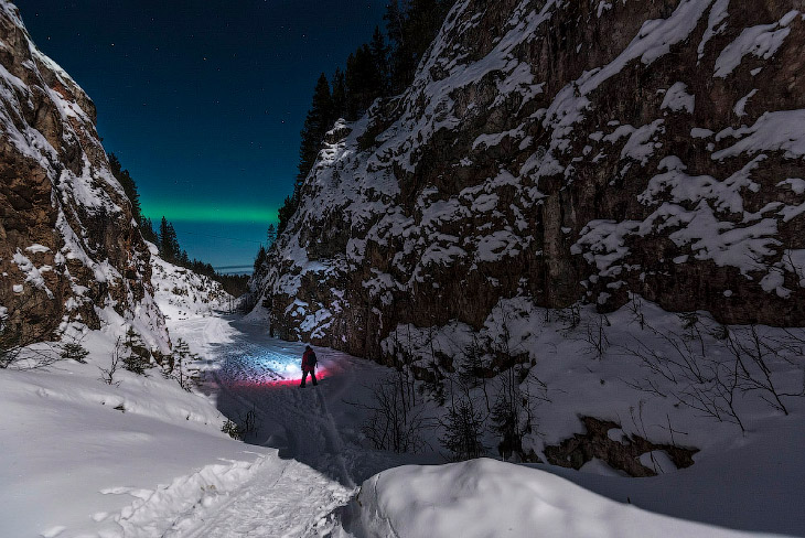 Под ночным небом северной Карелии (18 фото)