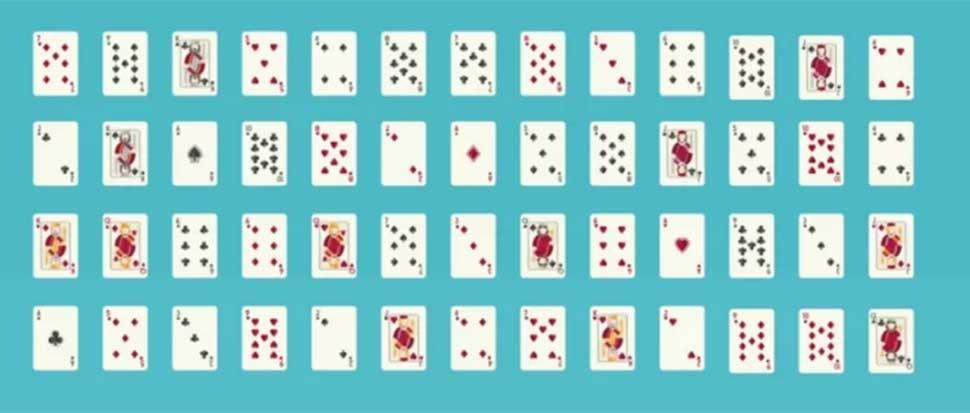 Число возможных комбинаций стандартной колоды из 52 карт превышает количество атомов на Земле Наша п