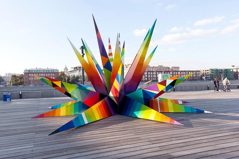 Москва, Россия. Кроме стрит-арт работ, выполненных непосредственно наулицах городов, художники созд