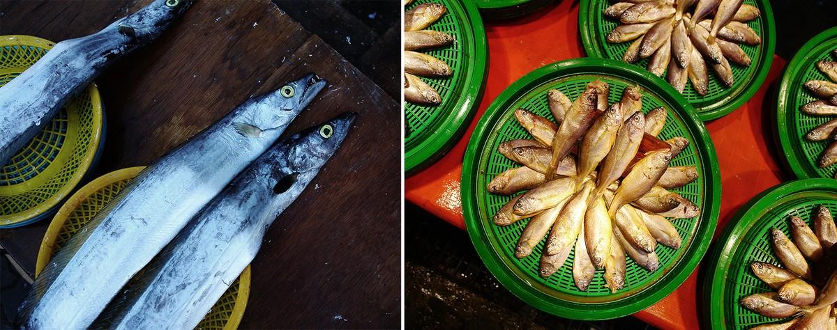 22. Вообще, если честно, рынок этот рыбный — скука. Порадовала только красивая выкладка товара и чел