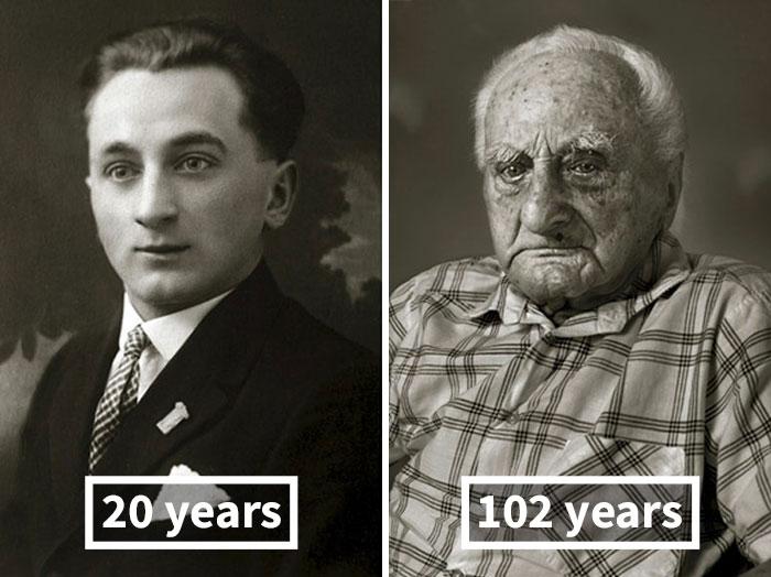 Лудвик Хыбик, 20 лет (кондитер) и 102 года.