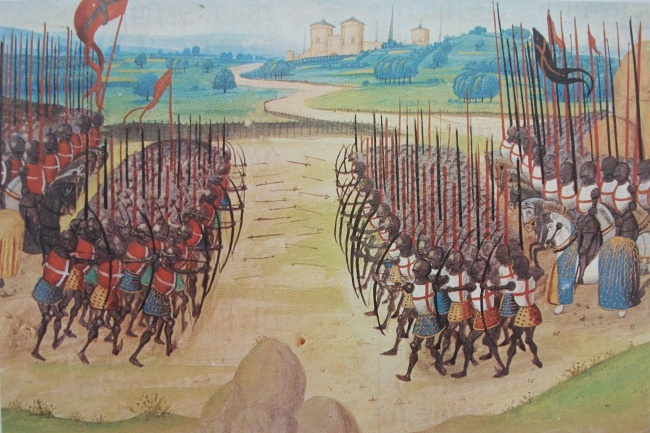 © wikimedia.org  Одно изкрупных сражений Столетней войны— битва при Азенкуре между Британией
