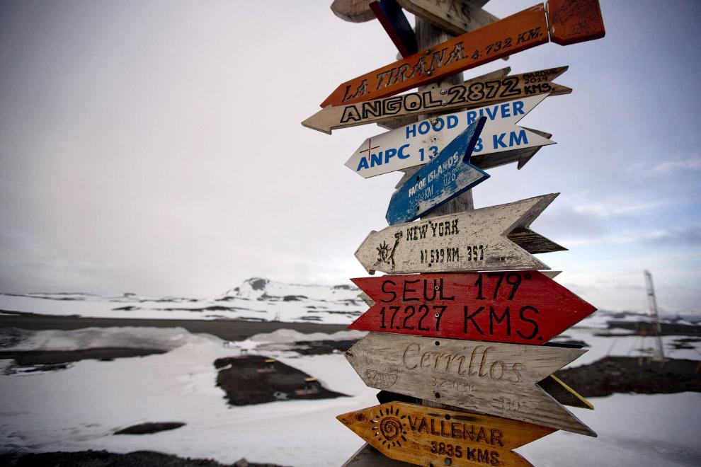7. Дома ученых на архипелаге Южные Шетландские острова, 24 января 2015. (Фото Natacha Pisarenko