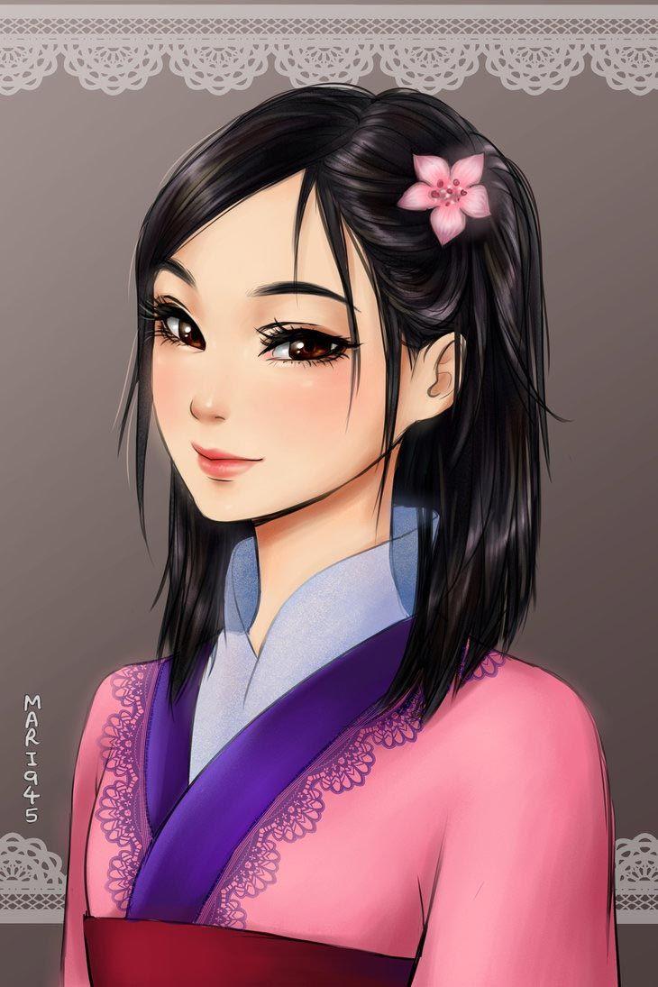 диснеевские принцессы в аниме стиле