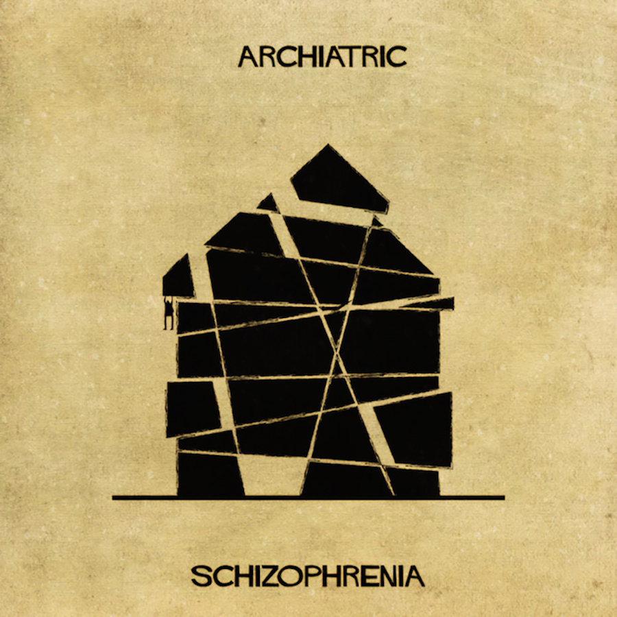 Architectural Interpretations of Mental Illnesses by Federico Babina