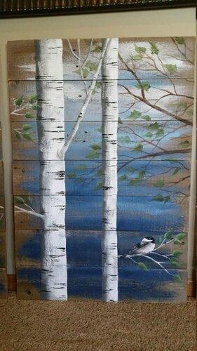 Фрагменты природы на деревянных досках