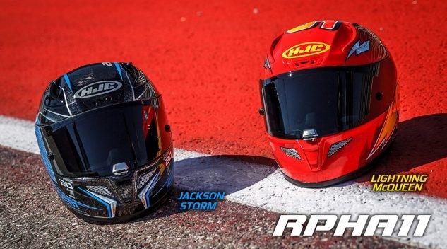 Мотошлемы HJC  RPHA 11 Lightning McQueen / Jackson Storm