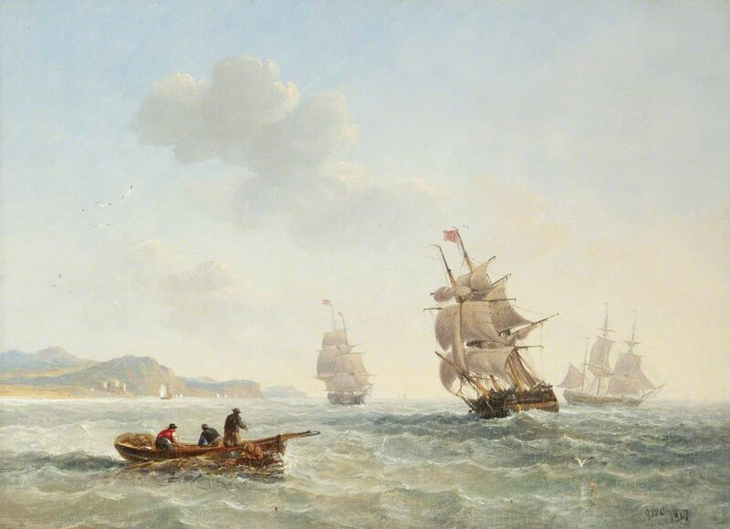Seascape with Boats and Fishermen