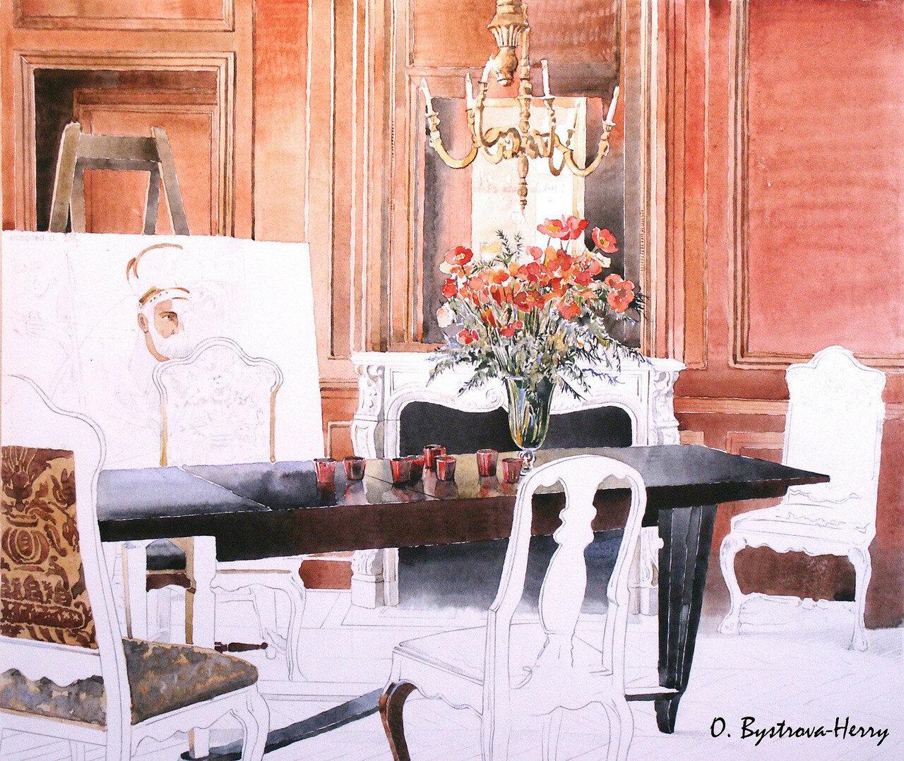 Chambre avec un portrait