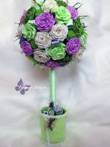 цветы из бумаги, творчество, сувениры, праздник, handmade, handwork, дерево счастья, европейское дерево