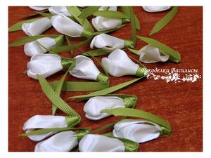 мастер-класс, рукоделки василисы, своими руками, ручная работа, цветы из атласных лент, подснежник из атласных лент
