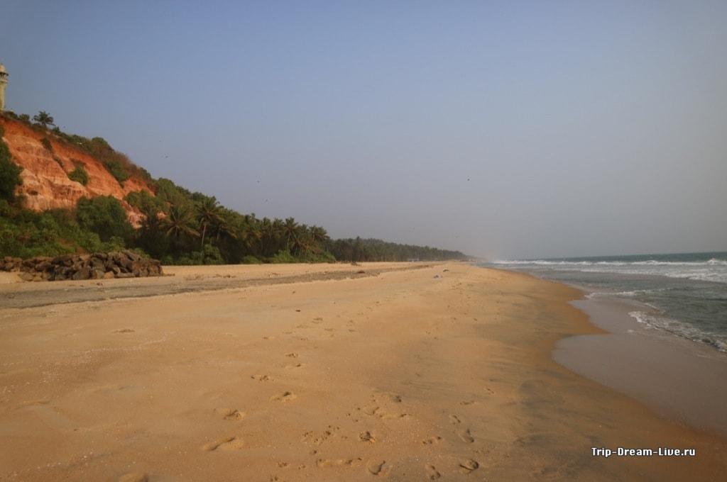 Южный пляж Варкалы