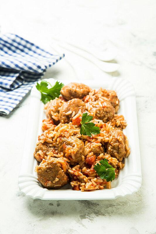 Тефтели с рисом в пряном томатном соусе + про флешмоб