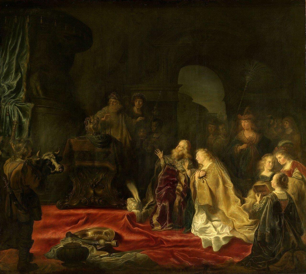 1644_Идолопоклонство царя Соломона (The Idolatry of King Solomon)_155 х 171.5_х.,м._Амстердам, Рейксмузеум.jpg